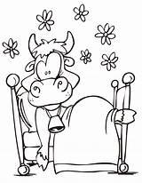 Coloring Cow Printable Cartoon Funny Animals Coloringhome Popular Library Clipart sketch template