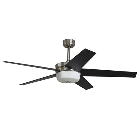 harbor breeze flush mount ceiling fan shop harbor breeze urbania 54 in brushed nickel downrod or
