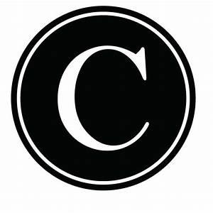 Vinyl Lettering - C Monogram Vinyl Krazy - Vinyl Lettering