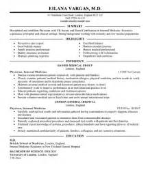 Doctor Resume Examples Healthcare Resume Samples