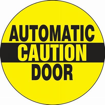 Automatic Door Caution Double Sided Stickers Labels