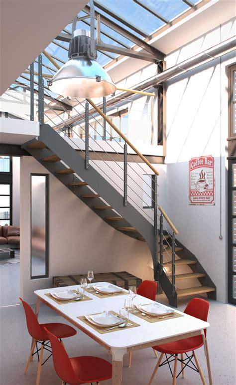 la maison de l escalier luescalier en colimaon de la
