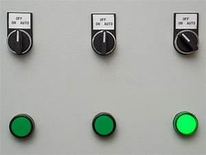 Manual Auto Switches On Control Panel With Light Indicator