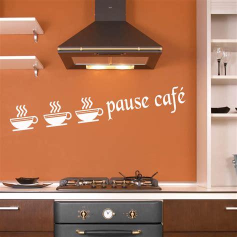 deco stickers cuisine stickers autocollant d 233 co cuisine tasse pause caf 233 deco