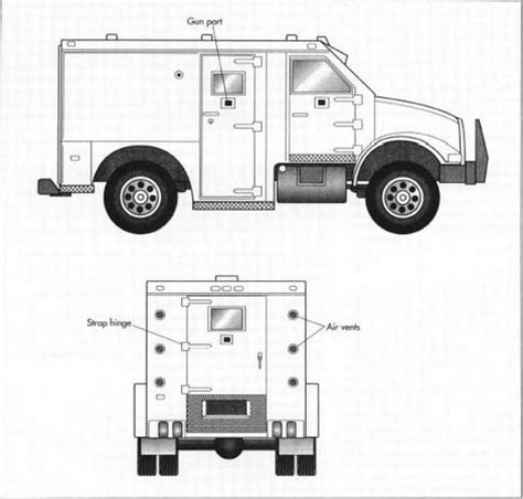 armored vehicles inside how armored truck is made material making used