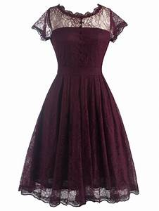 2018 funky short wedding a line dress with sleeves wine With dresslily robe vintage