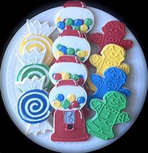 Decorated Candyland Birthday Cookies- bubblegum machines ...