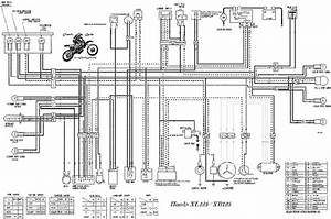 Honda Xl Xr125 Wiring Diagram  59374