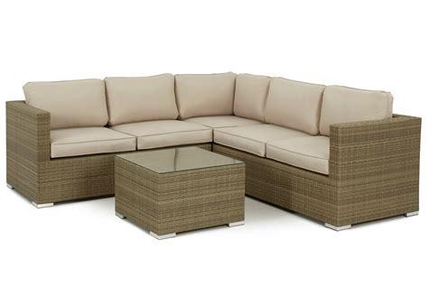 Rattan Garden Sofa Sets Uk by 4 5 Seater Rattan Corner Sofa Set