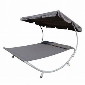 Bain De Soleil Deux Places : homcom bain de soleil transat chaise longue lit de ~ Dailycaller-alerts.com Idées de Décoration