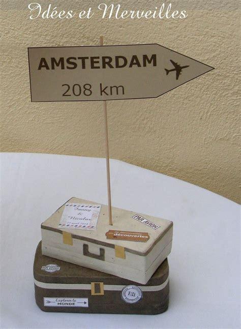 marque table voyage en  deco mariage theme voyage
