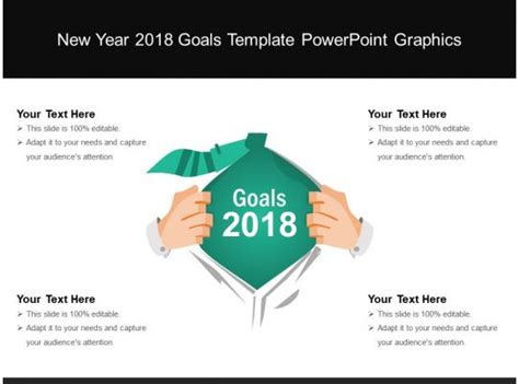 year  goals template powerpoint graphics
