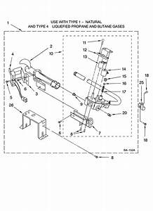 8576353 Burner Assembly Diagram  U0026 Parts List For Model Wgd9400sw1 Whirlpool