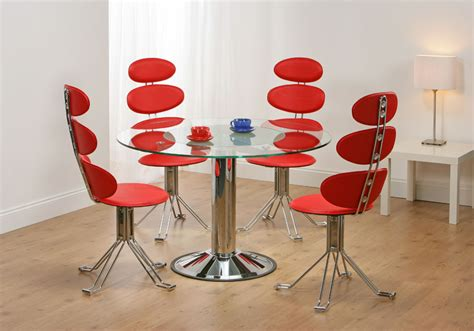 venice revolving glass dining table 4 chairs truly