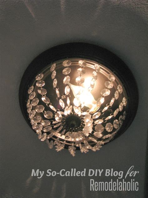 remodelaholic update  dome ceiling light  faceted