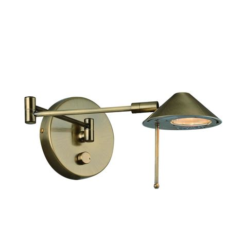 wall mounted swing arm l shop lite source 13 in h antique brass swing arm wall