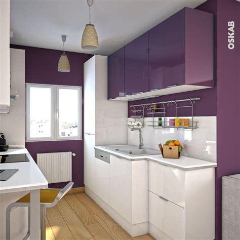 plan de cuisine cuisine aubergine mod 232 le keria aubergine brillant pantry