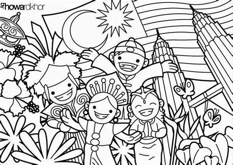 pin bendera malaysia colouring page  pinterest