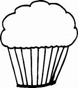 Desserts Cupcake Coloring Pages sketch template