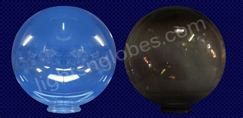plastic globes for outdoor lights 12 quot acrylic clear smoke round globe light outdoor lighting