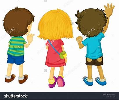 Clipart Illustration Facing Backs Standing Clipground