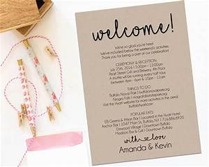 welcome letter wedding itinerary printable by With supermarket bag packing letter template
