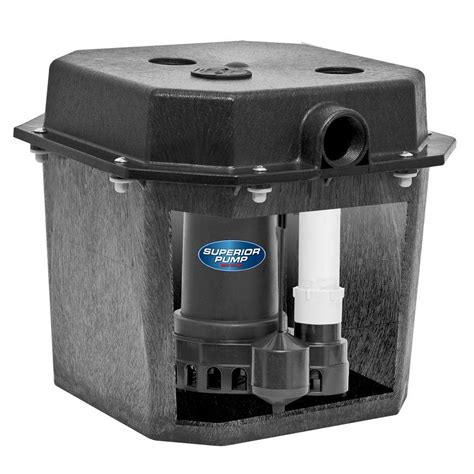 pre plumbed sink tray system sump pump superior pump 92072 1 3 hp pre assembled submersible