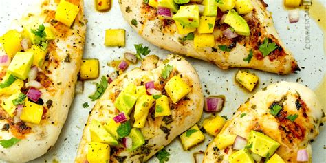 healthy easy to cook dishes best grilled honey lime chicken with pineapple salsa recipe delish