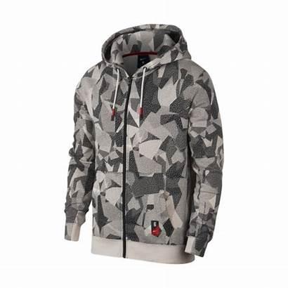 Nike Hoodie Kyrie Fz Brown Allover Nk