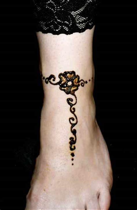 henna anklet designs