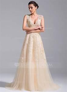 Robe De Mariée Champagne : robe de mari e dentelle couleur champagne ~ Preciouscoupons.com Idées de Décoration