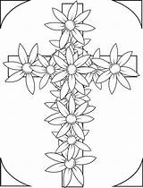 Coloring Cross Pages Flowers Printable Adults Crosses Flower Adult Easter Bible Roses Christian Drawing Sheets Colouring Printables Supplyme Rocks Grown sketch template