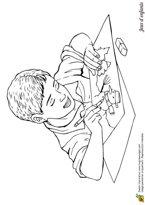 2 c est au programme cuisine coloriage le dessin du garçon