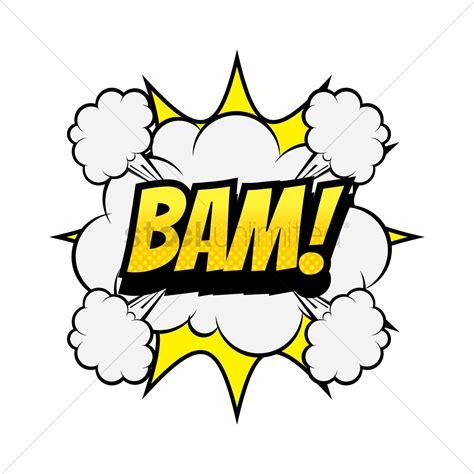 Comic Bubble Bam Vector Image Stockunlimited