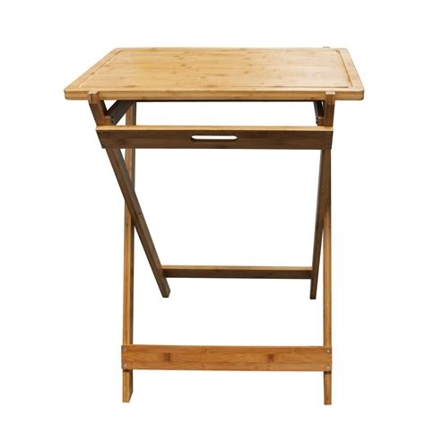 homex bamboo foldable snack table homex