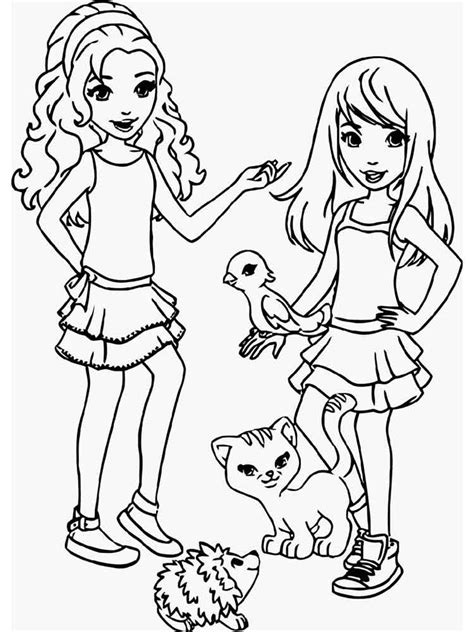 Kleurplaat Lego Friends by Lego Friends Coloring Pages Free Printable Lego Friends