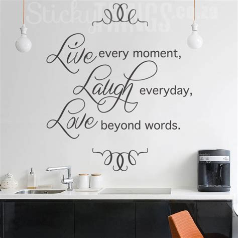 live laugh wall sticker quote decal from stickythings co za