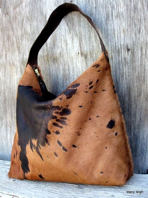Hair On Cowhide Leather by Tobacco And Brown Hair On Acid Washed Cowhide Leather
