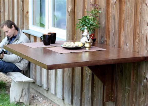 wall mounted drop leaf table  solid oak murphy desk