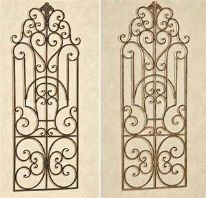 Outdoor wrought iron wall decor decor ideasdecor ideas for Kitchen colors with white cabinets with tuscan wrought iron wall art