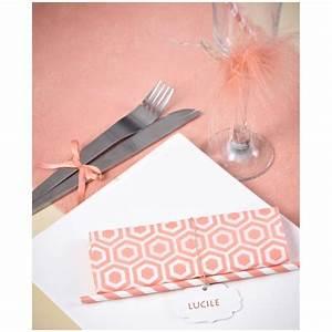 Serviettes De Table Vintage Corail Papier Les 20