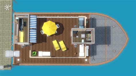 Hausboot Zum Wohnen by Hausboot Zum Wohnen Grundriss Sonnendeck Simension