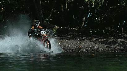 Motorcycle Water Dangerous Being Hardly Ridden Yes