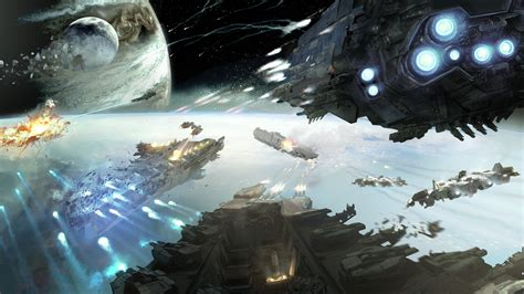 wallpaper dreadnought game space battle planet