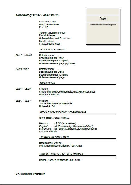 Beispiel Cv by Cv Beispiel Schweiz Dokument Blogs