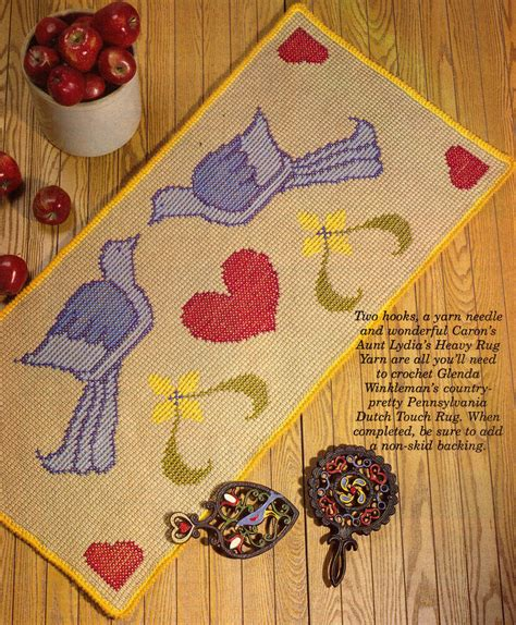pretty pennsylvania dutch rugdecorcrochet pattern