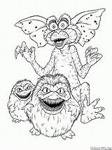 Coloring Pages Monster Gremlins Gremlin Gizmo Discover Print Books sketch template