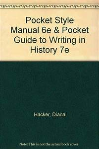 Pocket Style Manual 6e  U0026 Pocket Guide To Writing In