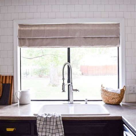 Diy No Sew Faux Roman Shade  The Adored Abode