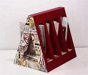 Porte Revue Carton : porte revues cartonnage pinterest porte revues magazines et cartonnage ~ Teatrodelosmanantiales.com Idées de Décoration